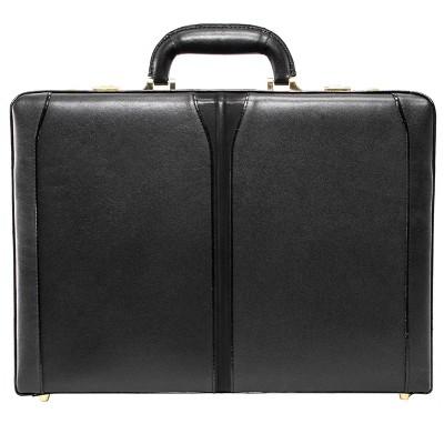 Solo Classic Expandable Attaché Briefcase Black