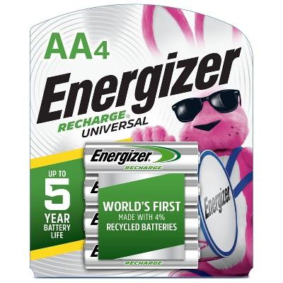Energizer 4pk Recharge Universal Rechargeable AA Batteries