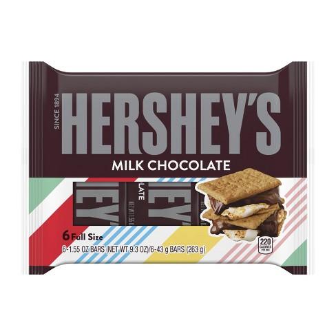 Hershey's Milk Chocolate Bars - 6ct - image 1 of 5