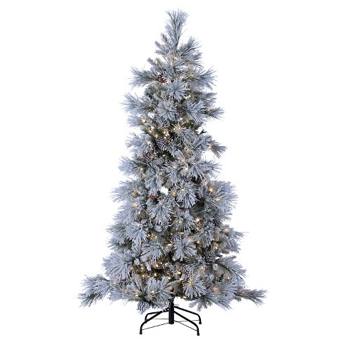 7ft Pre-Lit LED Artificial Christmas Tree Full Snowbell Pine - White Lights - image 1 of 1