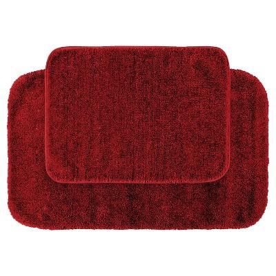 2pc Traditional Washable Nylon Bath Rug Set - Garland