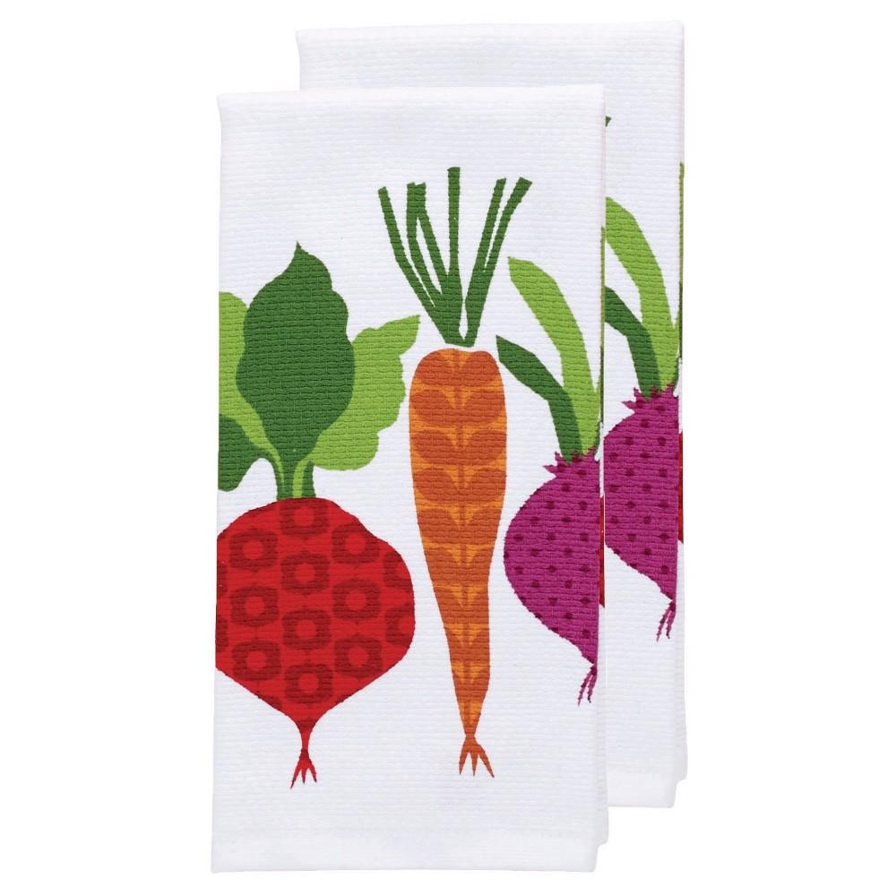 Red Veggies Print Kitchen Towel (16