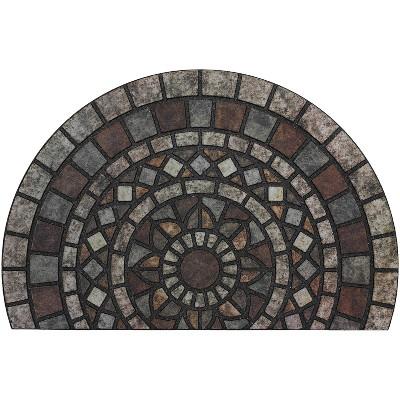 """1'11""""x2'11"""" Doorscapes Estate Mat Mosaic Mythos Stone Slice - Mohawk"""