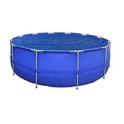 Pool Central 17' Round Floating Solar Cover for Steel Frame Swimming Pools - Blue