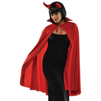 Adult Mid Length Red Cape Halloween Costume Wearable Accessory