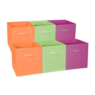 Sorbus 6pk Home Storage Bundle - Drawer and Closet Bins Purple Green Orange