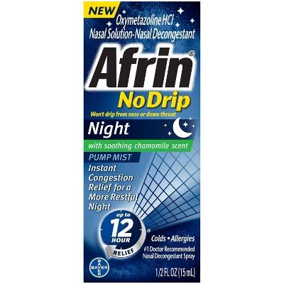 Afrin NoDrip Night 12 Hour Relief Nasal Spray - 0.5 fl oz