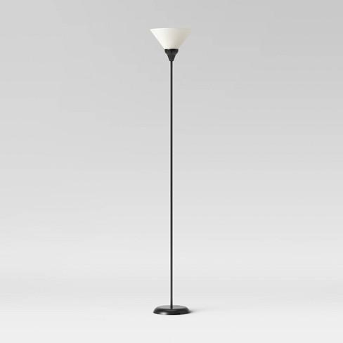 Torchiere Floor Lamp Black Room