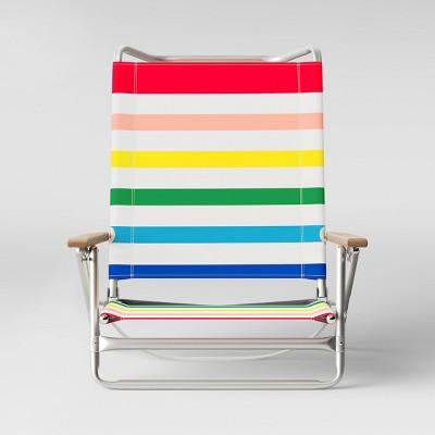 5 Position Summer Stripe Beach Chair - Sun Squad™