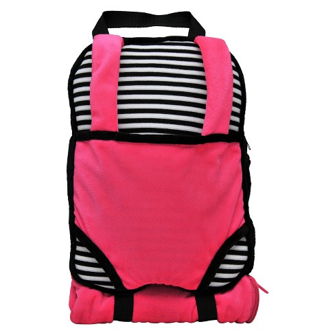 "The Queen's Treasures Child Size Pink & Black Backpack with 18"" Doll Carrier & Doll Sleeping Bag - image 1 of 6"