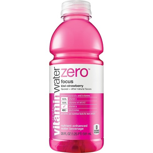 vitaminwater zero focus kiwi-strawberry - 20 fl oz Bottle - image 1 of 2