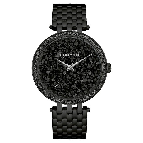 Caravelle New York by Bulova Women's Black Stainless Steel Bracelet Watch - 45L147 - image 1 of 1