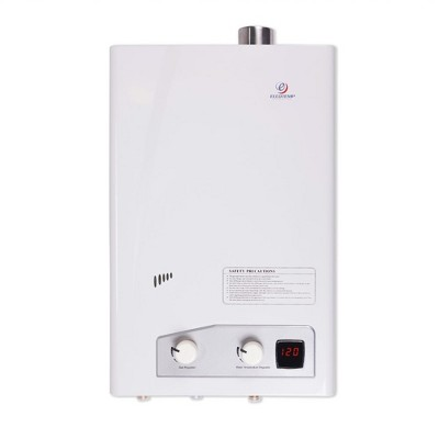 Eccotemp FVI12-LP Indoor Home Liquid Propane Powered Tankless Hot Water Heater, 3.6 GPM, 1.07 Amps, White