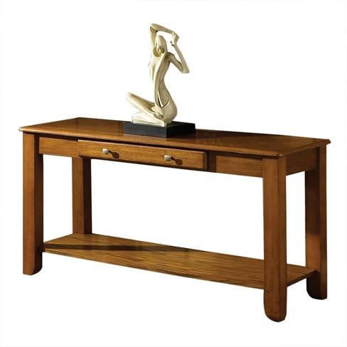 finest selection 90489 e73e5 Nelson Sofa Table Oak - Steve Silver
