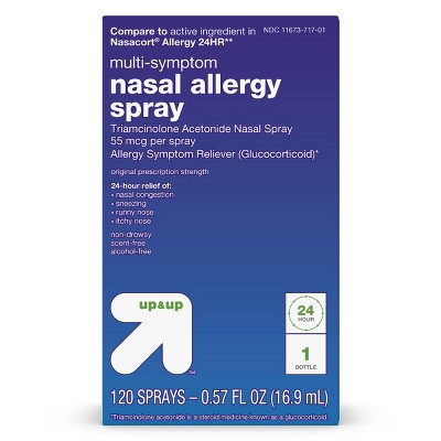 Triamcinolone Acetonide Multi-Symptom Nasal Allergy Relief Spray - 0.57 fl oz - up & up™