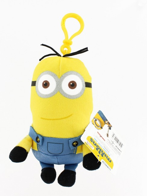 "Minion Movie Tall Standard Minion (2 Eyes) Clip-On 5"" Plush - image 1 of 2"