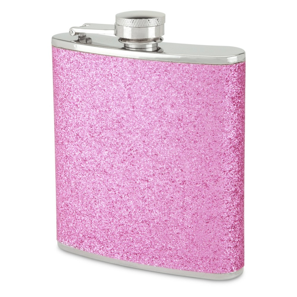 Image of True Fabrications 6oz Stainless Steel Party Flask - Pink