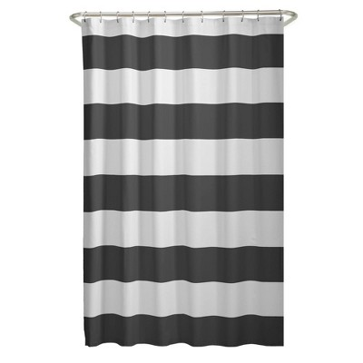 Porter Striped Shower Curtain Gray - Zenna Home
