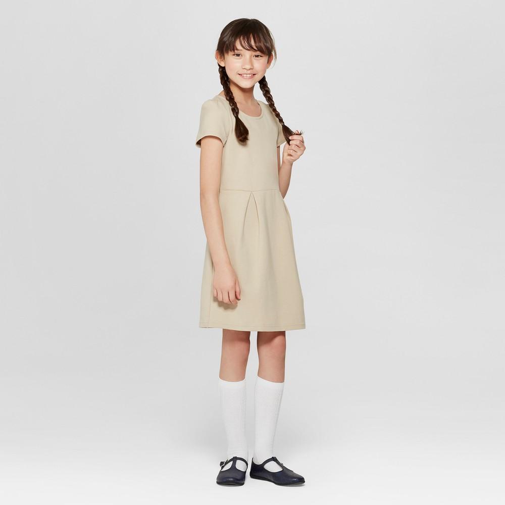 Girls' Uniform Knit Jumper - Cat & Jack Khaki (Green) M
