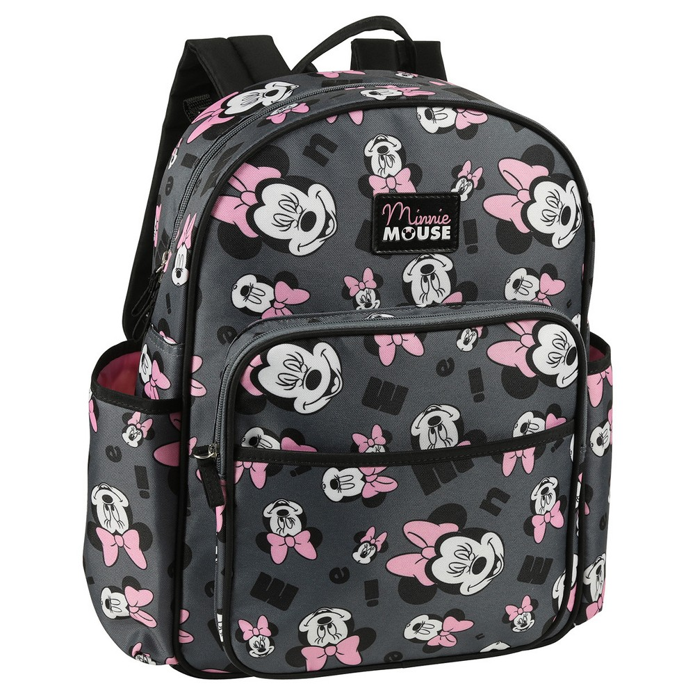 Image of Disney Minnie Mouse Diaper Bag - Gray