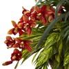 Mixed Tropical & Cymbidium Hanging Basket Red - Nearly Natural - image 2 of 3