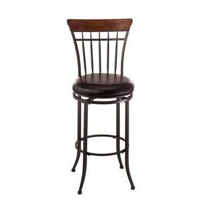 "Cameron Swivel Vertical Spindle 26"" Counter Height Barstool Wood/Brown - Hillsdale Furniture"