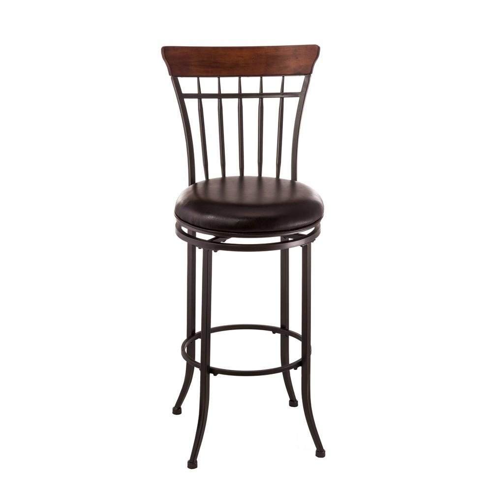 30 Cameron Swivel Vertical Spindle Barstool Metal/Brown - Hillsdale Furniture Reviews
