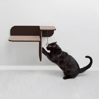Hauspanther Step Perch Cat Scratcher - Espresso