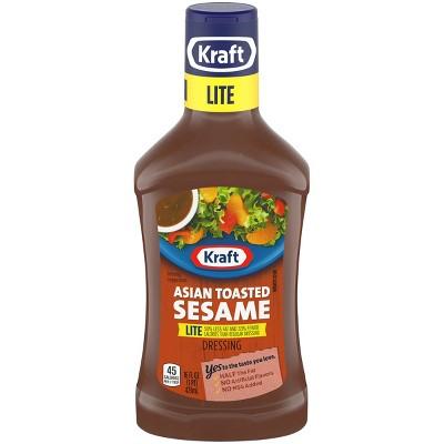 Kraft Asian Toasted Sesame Lite Reduced Fat Salad Dressing - 16 fl oz