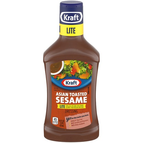 Kraft Asian Toasted Sesame Lite Reduced Fat Salad Dressing 16oz - image 1 of 3