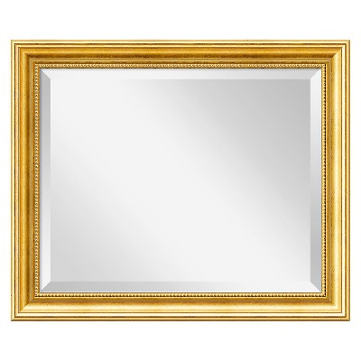 "20"" x 24"" Townhouse Gold Framed Wall Mirror - Amanti Art"