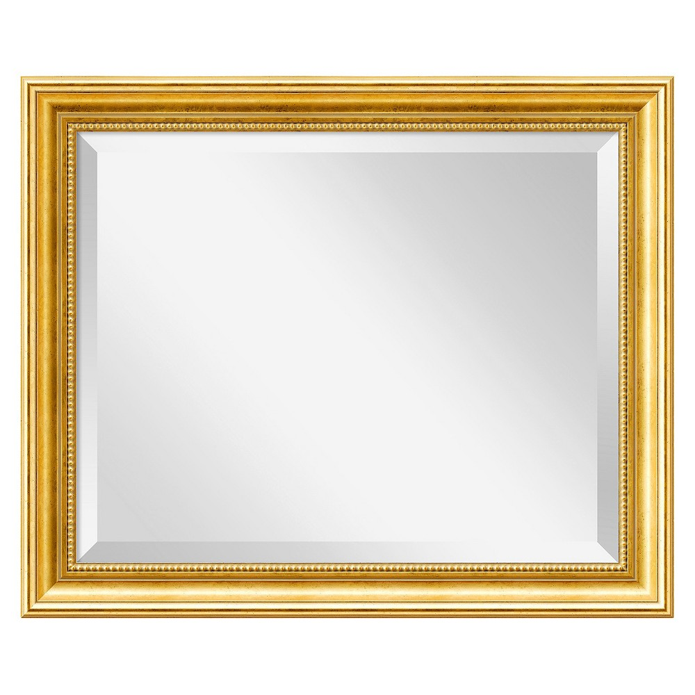 Image of Rectangle Townhouse Decorative Wall Mirror Gold - Amanti Art