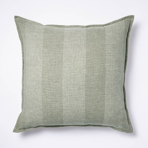 Oversized Linen Striped Throw Pillow Green - Threshold™ designed with Studio McGee - image 1 of 4