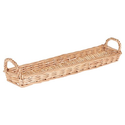 Household Essentials Long Wicker Bread Basket Natural
