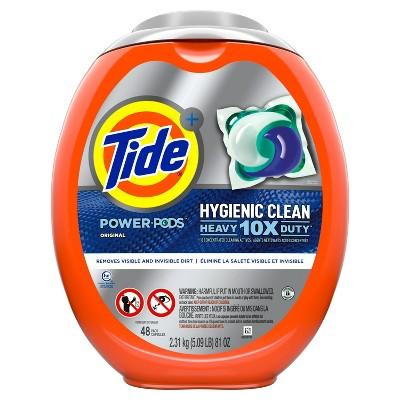Tide Hygienic Clean Heavy 10x Duty Power PODS Original Laundry Detergent Liquid Pacs - 48ct