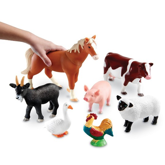 Learning Resources Jumbo Farm Animals image number null
