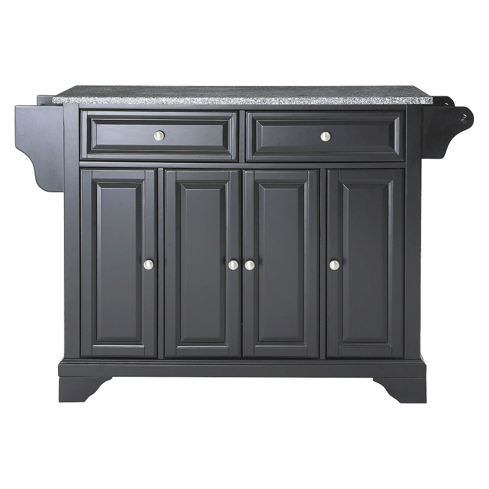 LaFayette Solid Granite Top Kitchen Island - Black - Crosley