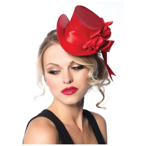Top Hat Mini Satin Red - One Size - image 1 of 1