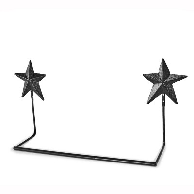 Lakeside Barn Star Wall Towel Holder with Vintage, Distressed Metal Design