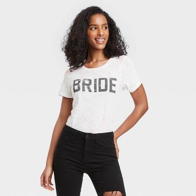 Women's BRIDE Short Sleeve Graphic T-Shirt - White