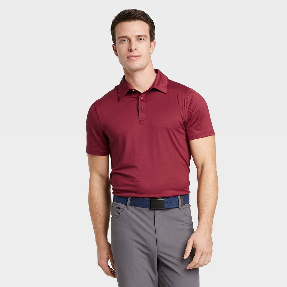 Men's Jersey Golf Polo Shirt - All in Motion Red XL, Men's was $20.0 now $12.0 (40.0% off)