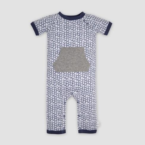 3360d11df Burt s Bees Baby® Baby Boys  Organic Cotton Coveralls - Indigo   Target