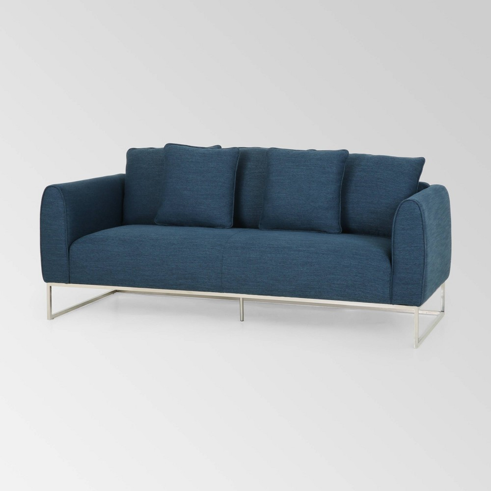 Canisbay Modern Sofa Navy Blue - Christopher Knight Home was $999.99 now $649.99 (35.0% off)