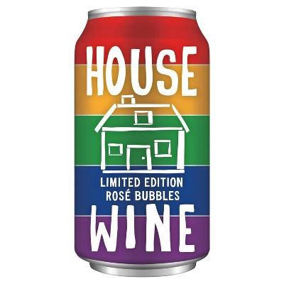 House Wine Rosé Bubbles Wine - 375ml Can