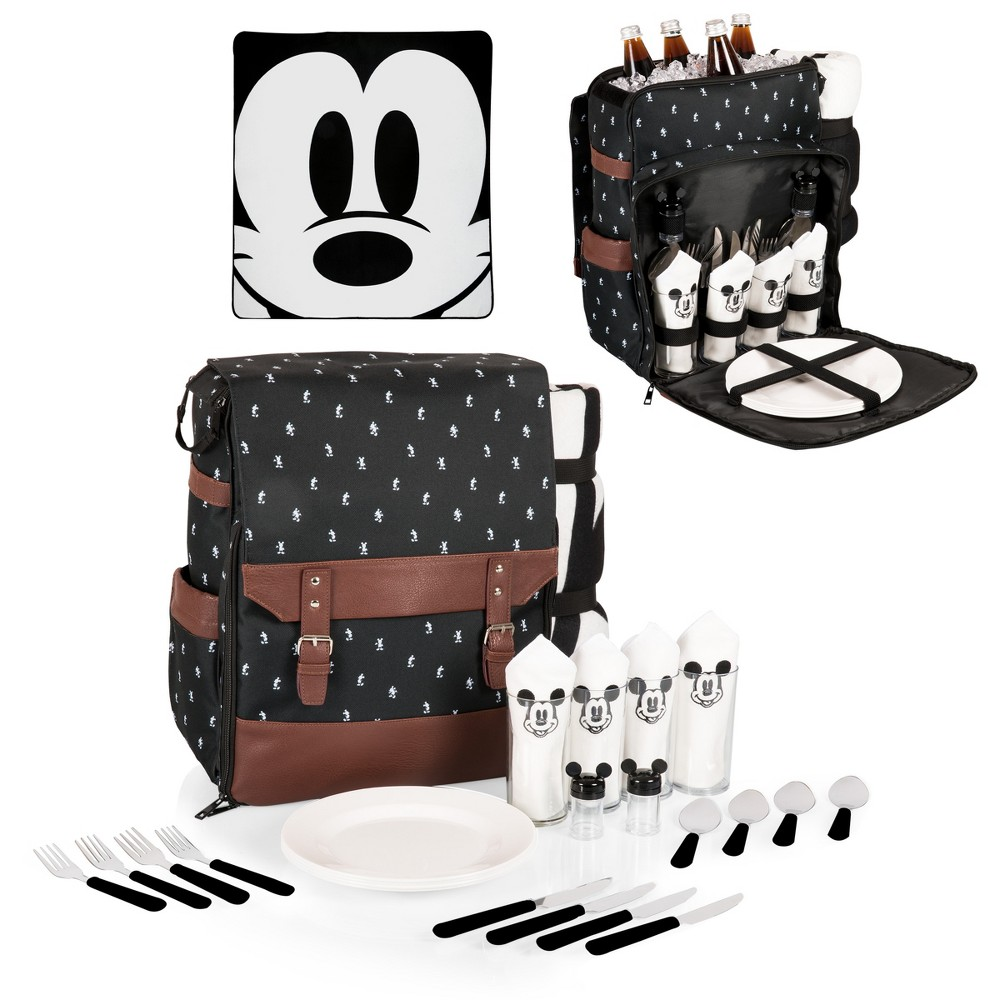 Image of Picnic Time Mickey Mouse Picnic Backpack - Black