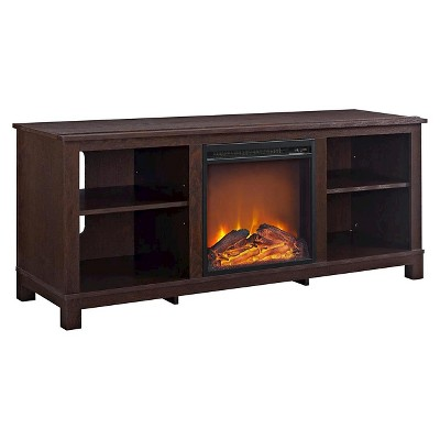 """Brenner TV Console with Fireplace for TVs up to 60"""" - Room & Joy"""