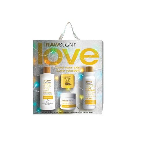 Raw Sugar Lemon Sugar Body Wash Gift Set - 4ct - image 1 of 3