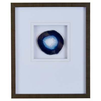 Agate Stone Framed Graphic (4  Agate)- Blue