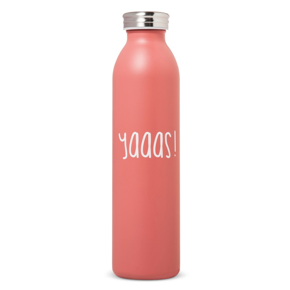 Image of 20oz Stainless Steel Insulated Retro Water Bottle - Coral Matte, Coral Starfish