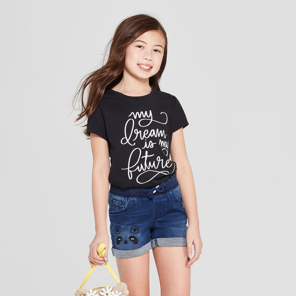 Girls' Short Sleeve My Dream Graphic T-Shirt - Cat & Jack Black S